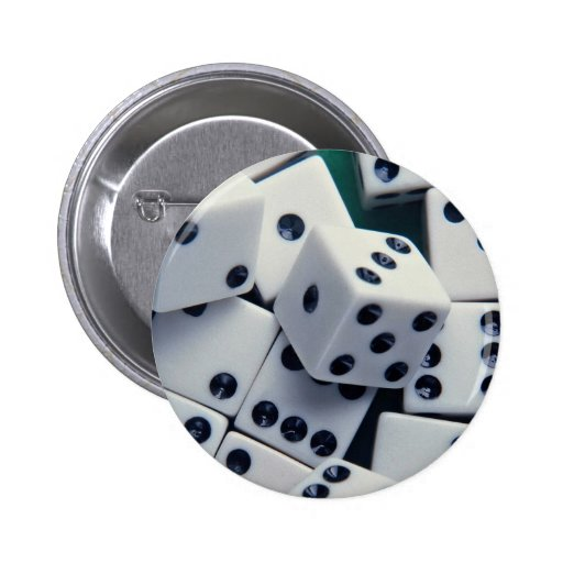 Background of dice pinback button