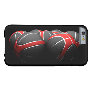 background of modern basketball balls barely there iPhone 6 case