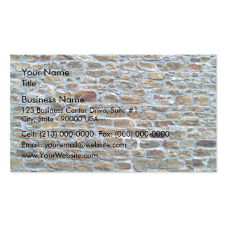 Background of Natural Multi-Colored Stone Wall Business Card Template