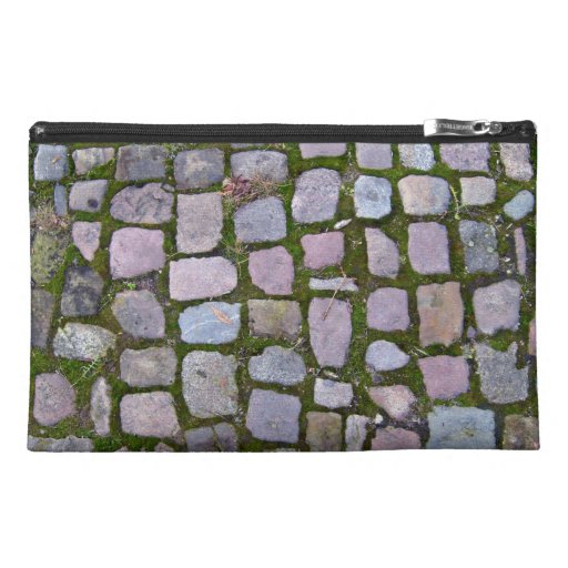 Background Of Paving Blocks With Moss Travel Accessories Bags