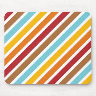 Background Of Retro Diagonal Stripes Mousepad