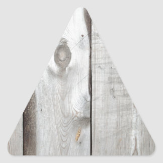 Background of rough planed boards closeup triangle sticker