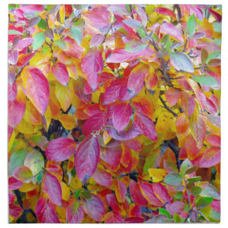 Background of vivid red and yellow autumn leaves napkin