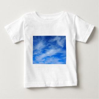 Background of white cirrus clouds baby T-Shirt