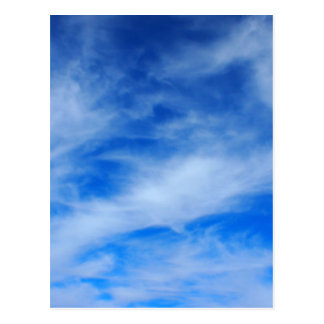 Background of white cirrus clouds postcard
