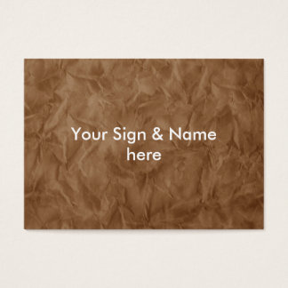 Background PAPER TEXTURE - dirty brown Business Card