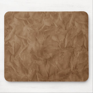 Background PAPER TEXTURE - dirty brown Mouse Pad