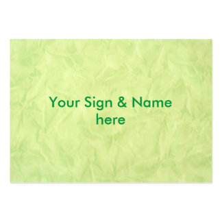 Background PAPER TEXTURE - green Large Business Cards (Pack Of 100)