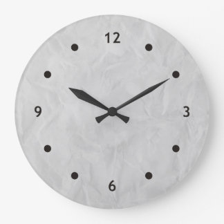 Background PAPER TEXTURE - grey Large Clock