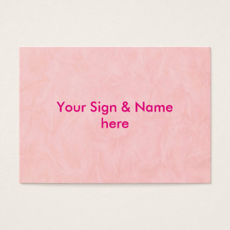 Background PAPER TEXTURE - light pink Business Card
