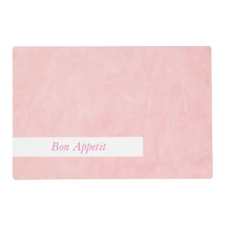 Background PAPER TEXTURE - light pink + your text Placemat