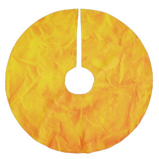 Background PAPER TEXTURE - orange yellow Brushed Polyester Tree Skirt