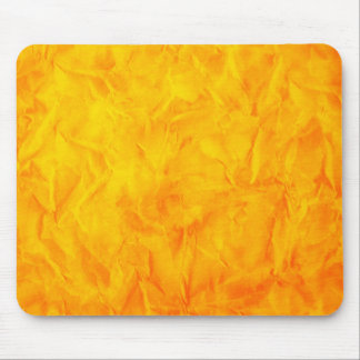 Background PAPER TEXTURE - orange yellow Mouse Pad