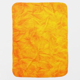 Background PAPER TEXTURE - orange yellow Swaddle Blanket