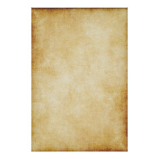 Background Parchment Paper Template Poster