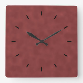 Background Pattern in Shades of Dark Red. Square Wall Clock