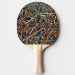 Background  Ping Pong Paddle, Red Rubber Back