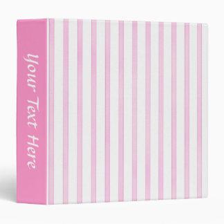 Background Pink Watercolor Stripes 3 Ring Binder