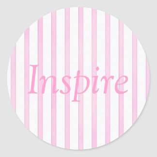 Background Pink Watercolor Stripes Classic Round Sticker