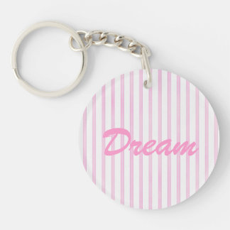 Background Pink Watercolor Stripes Acrylic Keychain