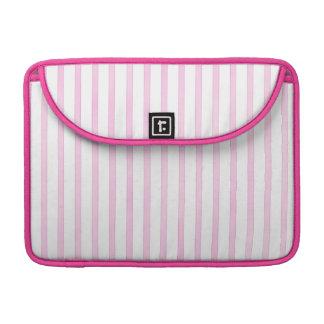 Background Pink Watercolor Stripes MacBook Pro Sleeves