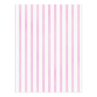 Background Pink Watercolor Stripes Postcard