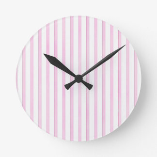 Background Pink Watercolor Stripes Round Wallclocks