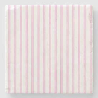 Background Pink Watercolor Stripes Stone Coaster