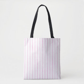 Background Pink Watercolor Stripes Tote Bag