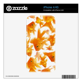 Background Showing a Large Group of Goldfish iPhone 4S Skins