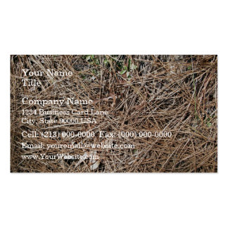 Background Texture of Dry Pine Leaves Business Cards