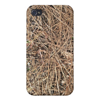 Background Texture of Dry Pine Leaves Cases For iPhone 4