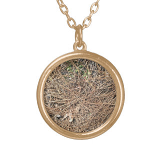 Background Texture of Dry Pine Leaves Necklace