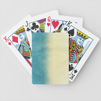 Background- Texture Watercolor Paper Bicycle Playing Cards