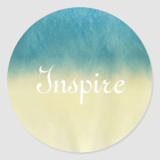Background- Texture Watercolor Paper Classic Round Sticker