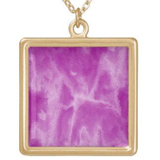 background texture watercolor purple seamless square pendant necklace