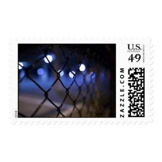 Background Themed, A Picture Of An Iron Fence With Postage Stamps