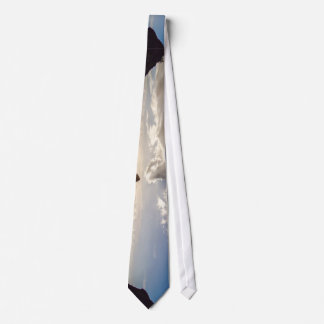 Background Themed, Ocean Recedes Leaving Shiny Wet Tie