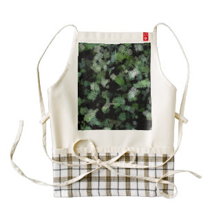 Background using green cloth patches zazzle HEART apron