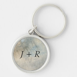 background watercolor Silver-Colored round keychain