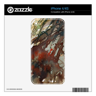 background watercolor iPhone 4S skin