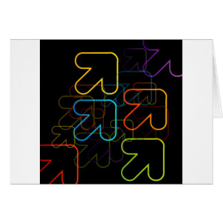 Background with colorful arrows pointing diagonall card