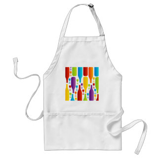 Background with colorful bottles and glasses adult apron