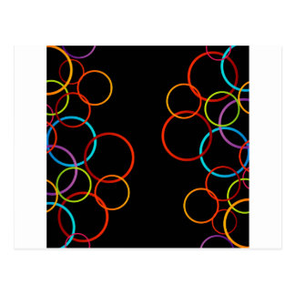 Background with colorful circles postcard