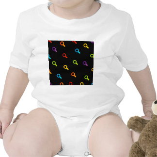 Background with colorful magnifying glasses baby bodysuit