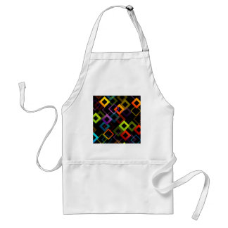 Background with colorful squares adult apron