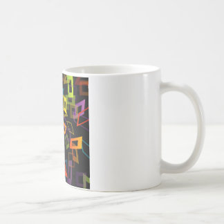 Background with colorful squares coffee mug