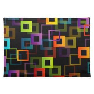 Background with colorful squares placemat