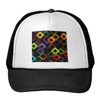 Background with colorful squares trucker hat