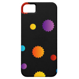 Background with colorful stars iPhone SE/5/5s case